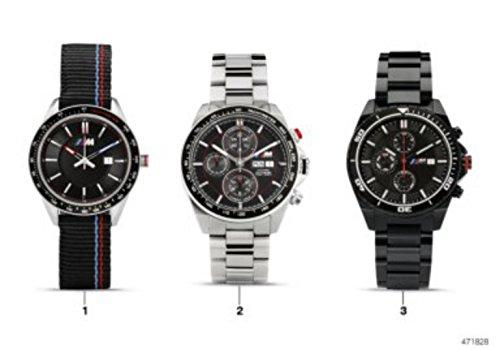 BMW äkta M logotyp armbandsur män svart vattentät nylonrem 80262406693