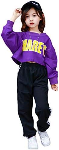キッズ ダンス衣装 ダンスウェア かっこいい HIPHOP ヒップホップ 男の子 女の子 ジャズダンス セットアップ ジュニア 男女兼用 お揃い チアガール 応援団 ステージ衣装 練習着 演出服 (パンツ, 180)