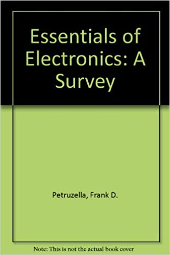 Essentials Of Electronics A Survey Student Activity Manual 1st Edition