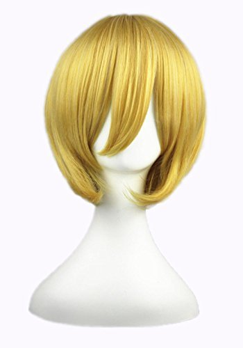 LOUISE MAELYS Japan Anime Characters Short Straight Full Wig Cosplay Costume Hair -