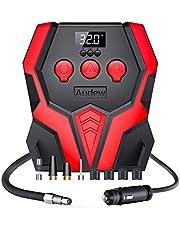 Audew Compresor de Aire Portátil Mini Bomba de Aire Eléctrico 12V 150PSI con Pantalla Digital y Linterna LED para Coche, Bicicleta, Moto y Otros Inflables