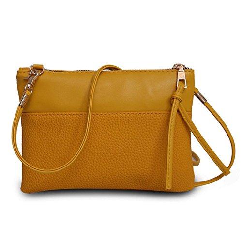 Pouch for Bags Woman Pocket Crossbody Bag Satchel Black Handbag Messenger Yellow Ladies Cellphone Shoulder Mini xgSp7fqwq