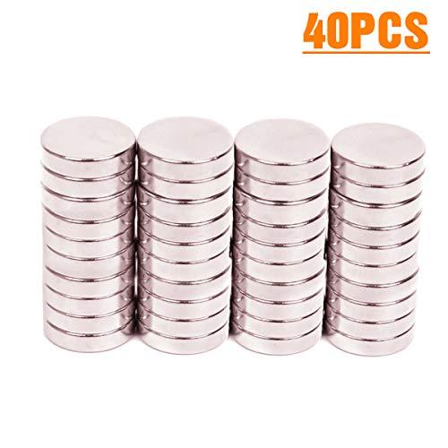 ELECFIND Magnets Magnet, for Refrigerator Fridge, Round, Permanent, Craft, Office (Disc: 12x3mm)