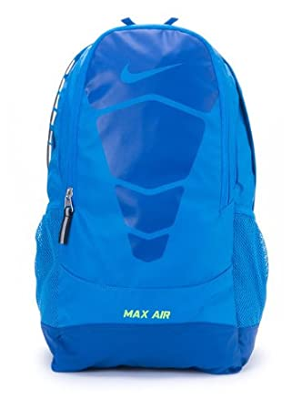 e69d4cd7d6803f Nike MAX AIR Unisex Vapor Backpack Bookbag Blue-Neon Yellow (BA4729-441) My  GN (Blue)  Amazon.co.uk  Sports   Outdoors
