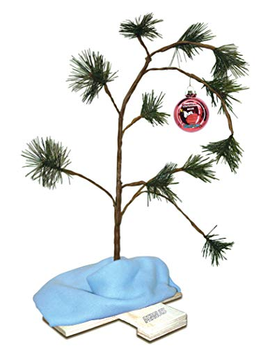 ProductWorks Exclusive 2018 24-Inch Charlie Brown Christmas Tree with Linus's Blanket Holiday Décor