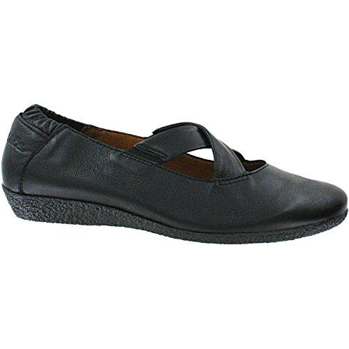 taos Footwear Women's Uncross Black Flat 36 M