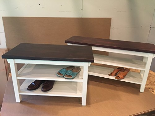 Foyer Furniture Qatar : Hallway mud room foyer bench with two shoe shelves in