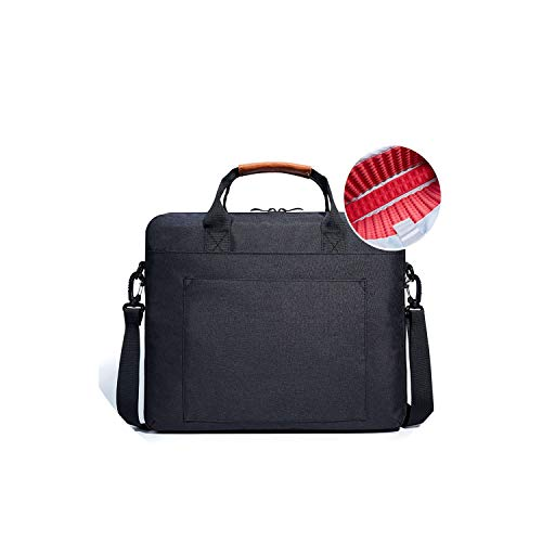 (Laptop Bag 13.3 15.6 17.3 Inch Waterproof Notebook Bag for MacBook Air Pro 13 15 Computer Shoulder Handbag Briefcase Bag,Black,14-Inch)