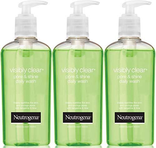 Neutrogena Visibly Clear Pore and Shine Daily Wash 200ml Pack of 3