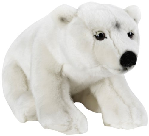 National Geographic Polar Bear Plush - Medium - Polar Hand Puppet Bear