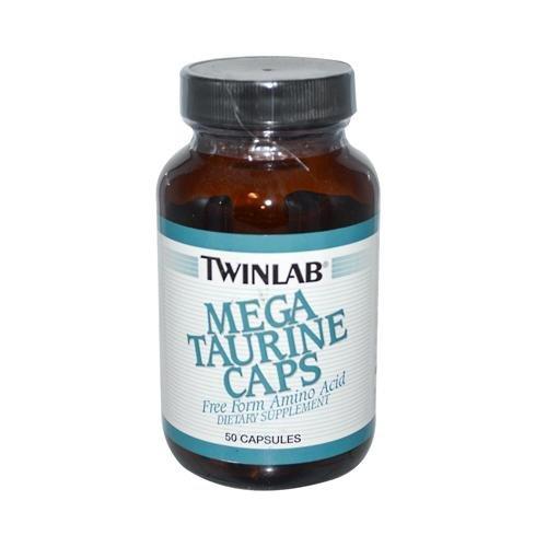 2 Packs of Twinlab Mega Taurine Caps - 1000 Mg - 50 (Mega Taurine 50 Capsules)