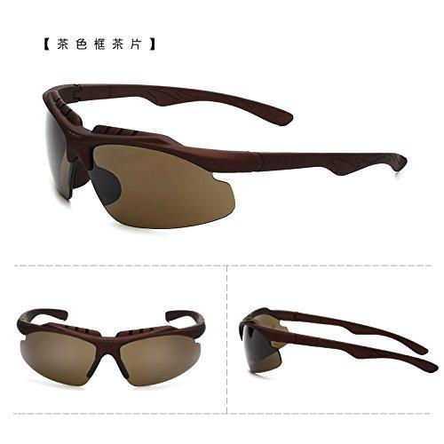 coupe - vent des bicyclettes motocyclettes lunettes de soleil les lunettes de soleil avec des lunettes course sports de plein air des lunettes de soleil les hommes et les femmes tide les comprimés de boîte (sac).