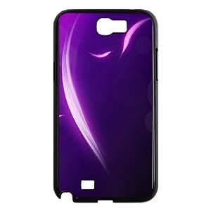 Samsung Galaxy N2 7100 Cell Phone Case Black Colorful Stripes Design Plastic Phone Case XRC