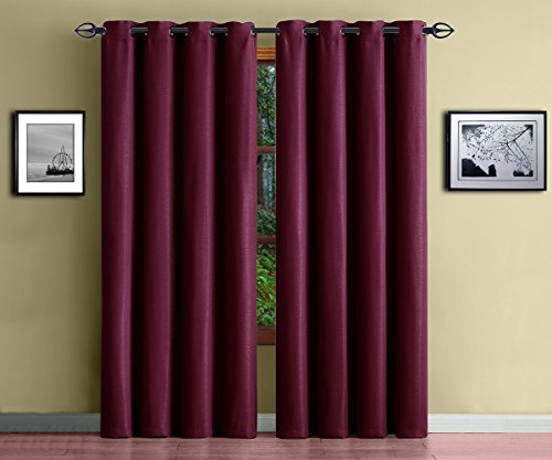 Warm Home Designs Burgundy Blackout product image