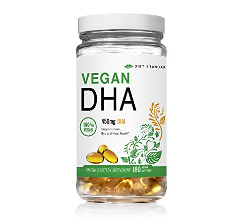 Diet Standards OmegaHD DHA Supplement (Formerly AminoHD BCAA) – 450 mg DHA Vitamin (Omega 3 Supplements) – 100% Plant-Based with Algae Oil – 180 Vegan Softgels Review