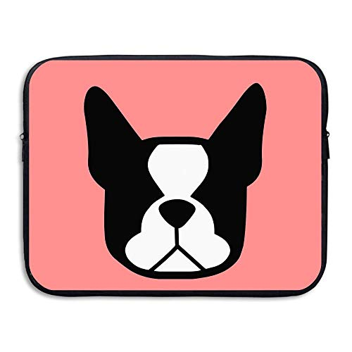 Water-resistant Laptop Bags Boston Terrier Ultrabook Briefcase Sleeve Case Bags 15 Inch