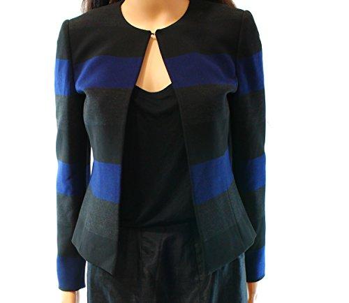 Tahari ASL Womens Petites Striped Long Sleeves Jacket Navy 4P (Separates Suit Petite)