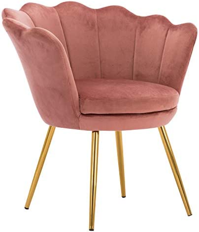 Pink Comfy Desk Chair no Wheels