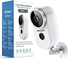 Wireless Outdoor Security Camera 1080P Rechargeable Battery Powered WiFi Camera with Night Vision, Motion Detection,...