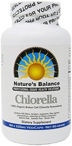 100 Pure Premium Grade Chlorella Pyrenoidosa by Nature s Balance – 180 Capsules