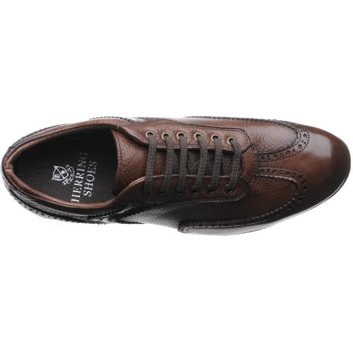 a7cb506935af3f Herring Silverstone Trainer in Brown Calf  Amazon.co.uk  Shoes   Bags