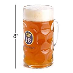 Features the traditional HB logo with Hofbrauhaus Munchen just below the logo;Features the traditional HB logo with Munchen just below the logo;Weighs just under 3 pounds;Imported from Germany / Made in Europe