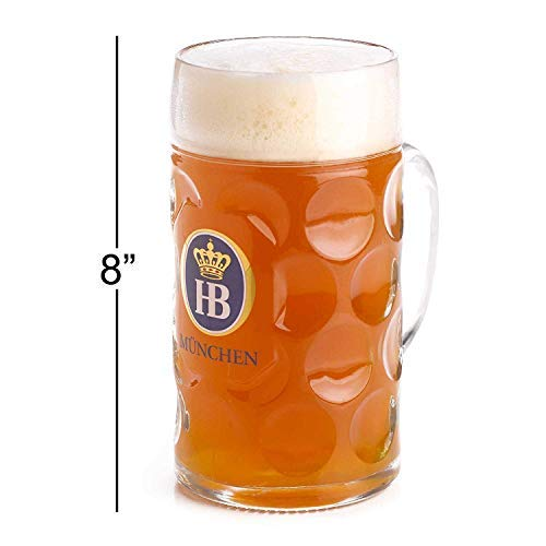 1 litrowy Hb Hofbrauhaus Munchen Dimpled Glass Beer Stein