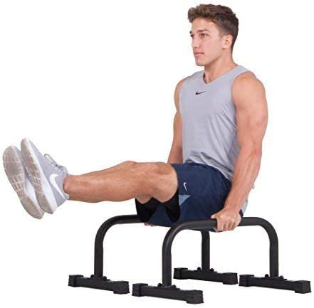 Body Power Parallettes Non slip Integrated