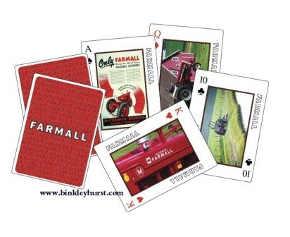 (Farmall Tractor Collectible Playing Cards)