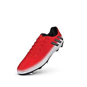 adidas Men's Messi 16.3 FG Soccer Shoe, Red/Black/White, (9 M US)