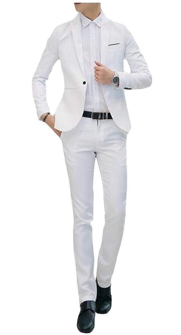 BingSai - Traje - para Hombre Blanco Blanco XL: Amazon.es ...
