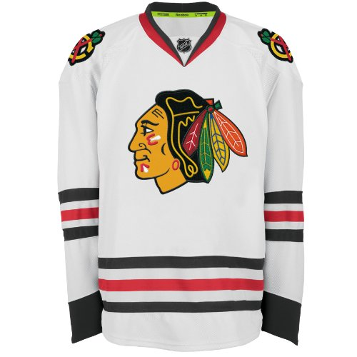 Tie Jersey Reebok - NHL Men's Chicago Blackhawks Authentic Jersey - 7231A5Acahjcbh (White, 54)