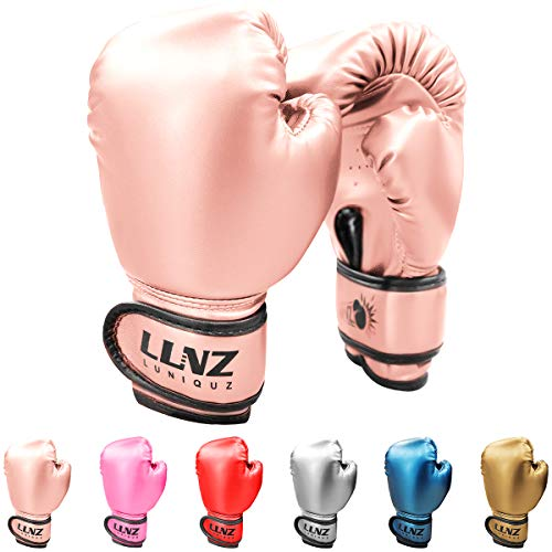Luniquz Boxing Gloves for Kids Punching Bag Sparring Fit Boys Girls