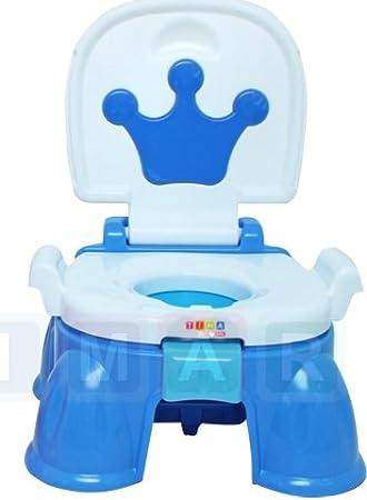 3in1 Toilettentrainer Töpfchentrainer Kindertoilette Lerntöpfchen+Treppe Baby WC