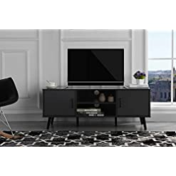 Living Room Divano Roma Furniture Mid Century Modern TV Stand (Grey) modern tv stands