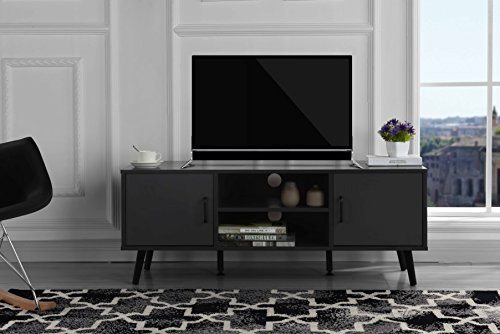 Mid Century Modern TV Stand (Grey) Contemporary Modern Tv Stand