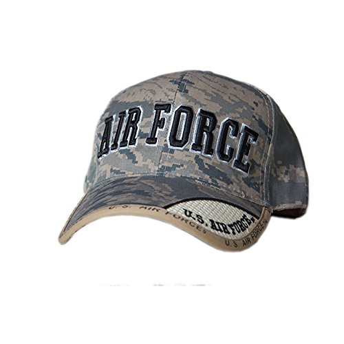 US HONOR TM Embroidered Digital Pixel Camo Air Force Text Baseball Caps Hats