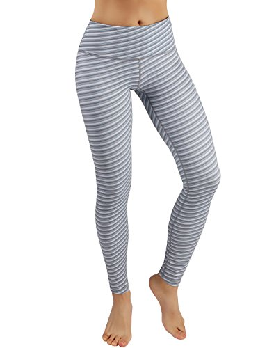 (ODODOS Power Flex Printed Yoga Pants Tummy Control Workout Non See-Through Leggings with)
