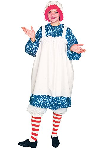 Raggedy Ann Doll Costume Women (Raggedy Ann Doll Complete Adult Woman's Deluxe Halloween Costume)