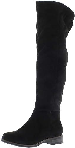 Stivali con tacco 3cm Stivali bassi bi materiale nero
