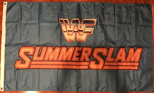 SUMMER SLAM WWF World Wrestling-WCW WWE 3'x5' Feet Blue Flag Banner -