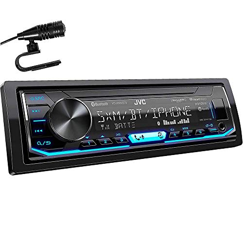 JVC KD-X360BTS 1-DIN Bluetooth In-Dash Mechless AM/FM/Digital Media Car Stereo Receiver with Pandora/iHeartRadio/Spotify Control (Detachable Jvc Car Face Stereo)