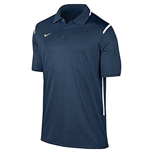 New Nike Men's Team Gameday Polo Shirt TM Navy/TM White/TM White Medium