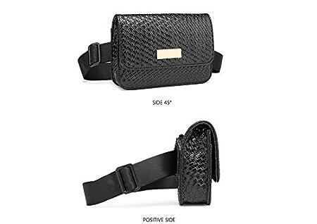 Badiya Womens Mini Waist Bag Fanny Packs Crocodile Leather Cell Phone Pocket WP02129RD