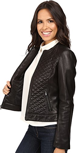 30%OFF Cole Haan Women's Collarless Moto Diamond Quilted Leather ... : cole haan leather jacket diamond quilted - Adamdwight.com