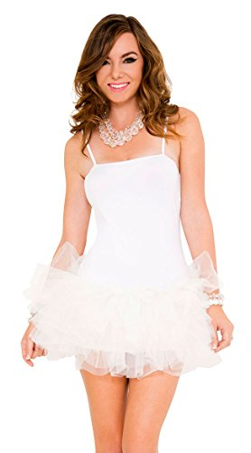 White Halloween Dresses (Music Legs Women's Tutu Dress, White, One Size)