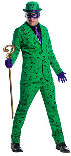 Charades DC Comics Riddler Men's Costume, As Shown, Large