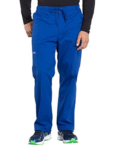 Cherokee WW Professionals WW190 Men's Tapered Leg Drawstring Cargo Pant Galaxy Blue S Short by Cherokee