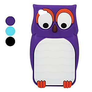 get Owl Pattern Silicone Case for iPhone 4 and 4S (Assorted Colors) , Blue