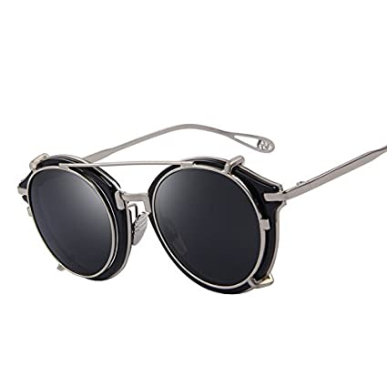 215cf82087 Amazon.com   Clip on Sunglasses Flip Separable Lens Mirror lens Clear lens  Vintage Glasses UV400   Everything Else